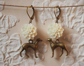 Chic dog earrings