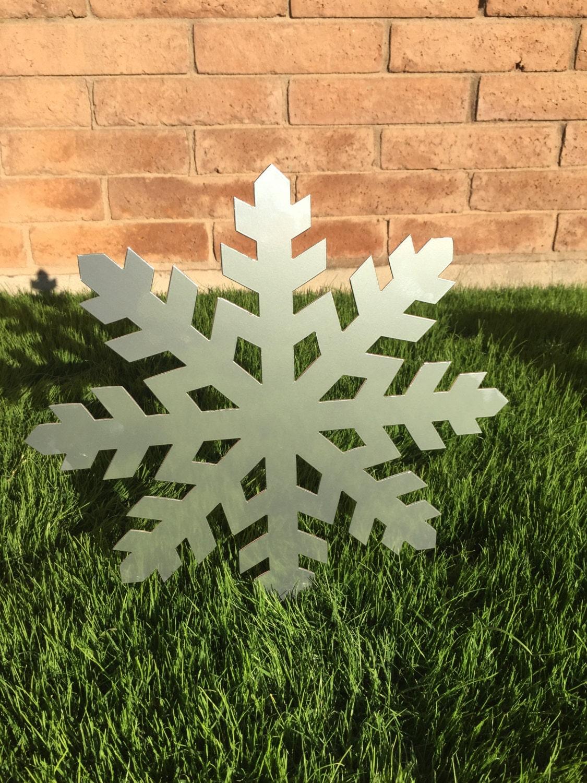 Snowflake 06 Christmas Decor Metal Yard Ornaments