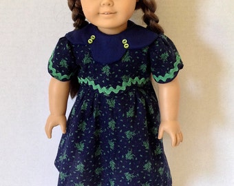 18 Inch Doll Clothes, 1930's Frock, Retro Dress