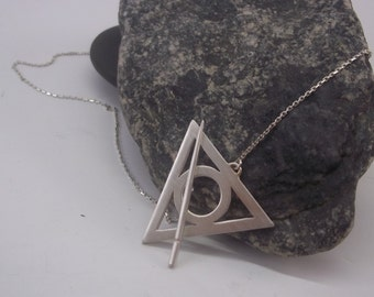 Pure Silver Deathly Hallows Necklace