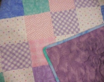 Beautiful Pastel Baby Quilt