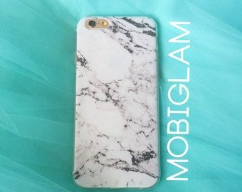 White Marble Grain Pattern iPhone Soft Bendy TPU Case Minimalist iPhone 6/6S