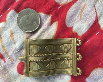 Vintage moroccan brass piece that could be used in so many different ways pendant.