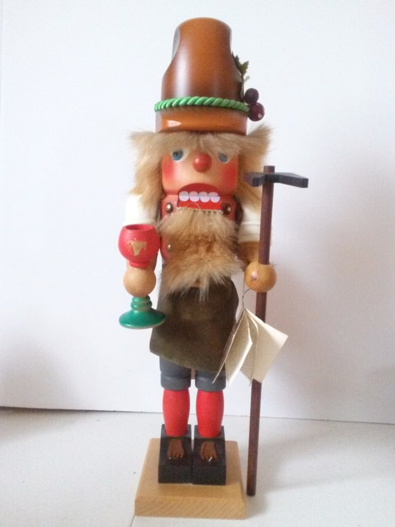 Vintage Original Bavarian German Hand Made Wine Merchant Nutcracker