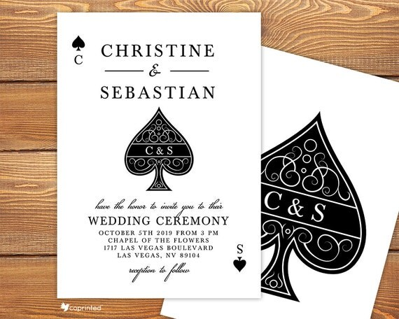 love in las vegas wedding invitation las vegas vegas poker ace