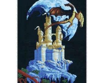 Cross Stitch Kit Mystery castle (Dragon)