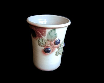 Vase by Cranberry Pottery ~ vintage pottery ~ gift for her ~ gift for mom ~ wedding gift ~ engagement gift ~ collectible pottery