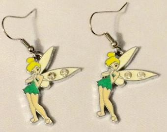 Rhinestone Tinkerbell dangle Earrings