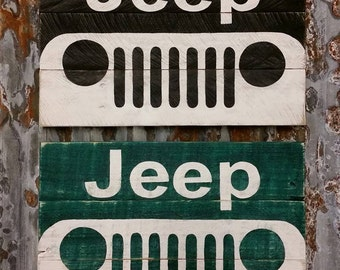 Jeep Rustic wood sign