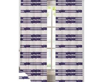 Nautical Rope Custom Print Curtains | NECR