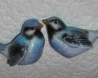 Goebel Blue Sparrow Birds...W. Germany..Pair