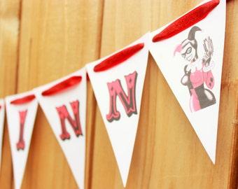 Harley Quinn banner - joker banner - Bang - Happy Birthday