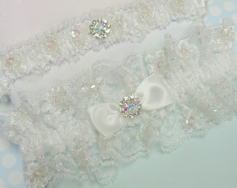 Wedding garter set beauty in light ivory,  Wedding Garter Set,  Wedding Garters