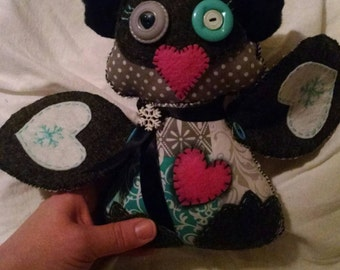 Just finished! Snow penguin love stitched doll.