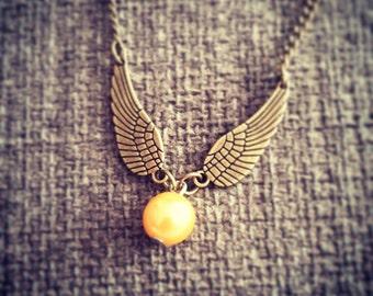 Harry Potter Bronze Snitch necklace