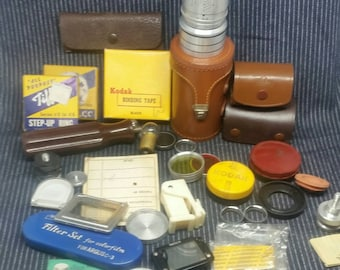 Lot Of Camera Lens And Parts