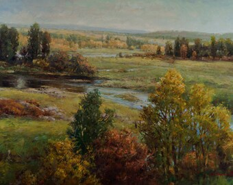 """24""""X36"""" Original Oil Painting on Stretched Canvas Landscape"""