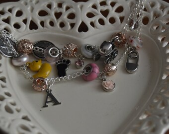 Baby Girl Personalized Charm Bracelet