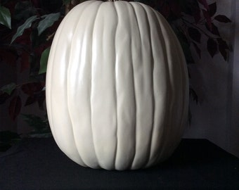 "13""  White  Custom designed pumpkins prices depends on what design you want"