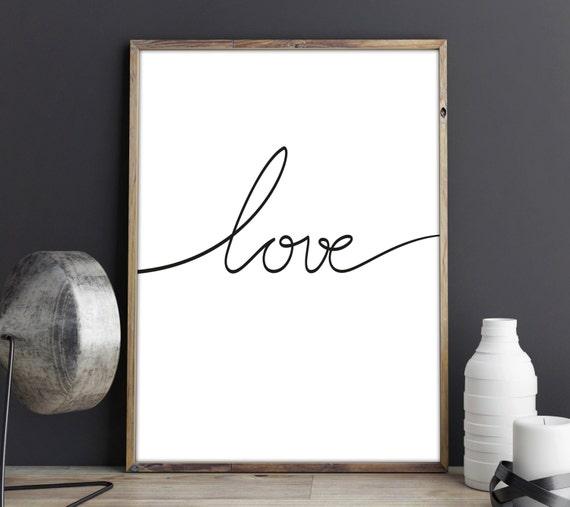 Love lamina decorativa poster decoraci n dormitorio love for Laminas de decoracion para pared