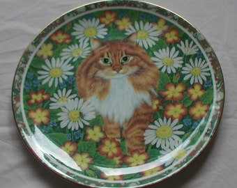 Vintage Coalport Plate Anne's Cat Fudge 1992