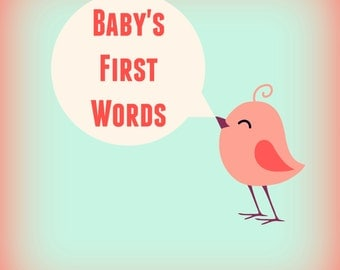 100+ First Words to Teach Baby / Printable / Baby's First Words / Teach Baby First Words / Instant Download