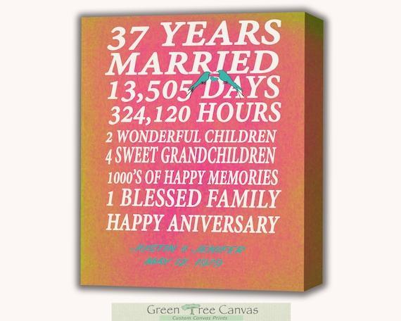 37th Wedding Anniversary Gifts