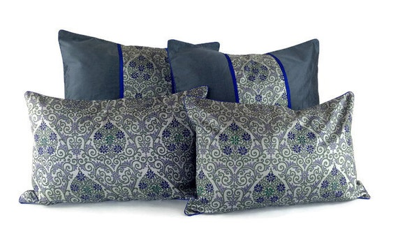 throw pillow set bed pillow set pure silk by fusionhomestudio