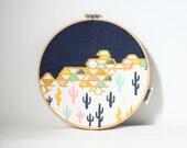 Geo-Cactus Hoop Art