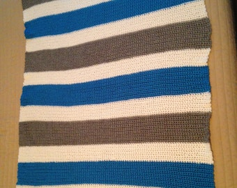 Blue/Grey Baby Blanket