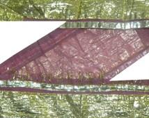 "4"" Wide Silk Antique Vintage Sari Gota Patti Border Indian 1 Yard Trim Craft Ribbon Lace ST1554"