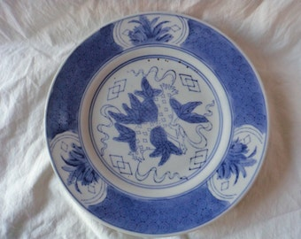 Blue and White Salad Plates Made in China