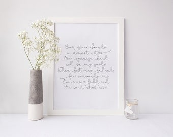Your Grace Abounds (Oceans by Hillsong United) Print