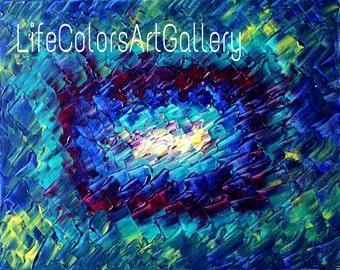 "Acrylic painting original  abstract wall art canvas art modern art done using palette knife 20""x16"""