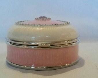 Antique pink &  cream trinket