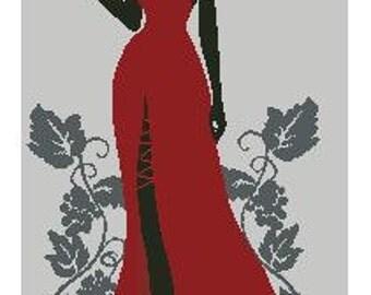 Madam, Cross stitch pattern pdf