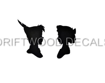 Peter Pan and Wendy Vinyl Decal