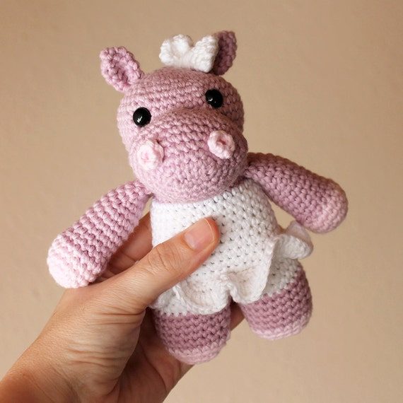 Hippo - Animalius. Amigurumi Pattern PDF, Animal Toy, Nursery Doll, Pink Crochet Pattern, Cute Children Gift, DIY, Nice Crafts, Digital File