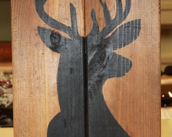 Hand-painted Deer Sign