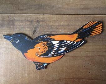 Vintage Bird Dimestore Die Cut Oriole