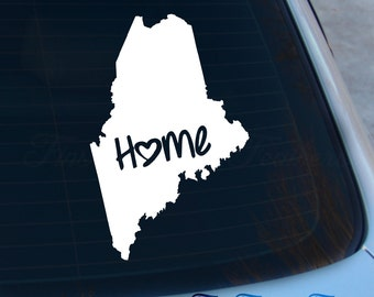 Maine Decal - State Decal - Home Decal - ME Sticker - Love - Laptop - Macbook - Car Decal