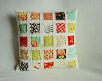 Quilted Throw Pillow Cover in Farmhouse by Moda