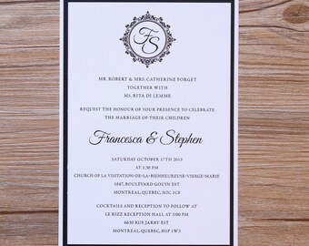 Classy Wedding invitations, classy wedding invitation, traditional wedding invitations, traditional invitation, traditional invitations