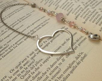 Pink Heart bookmark