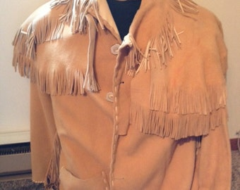 Barely worn buckskin Mountain Man Coat