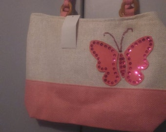 pink butterfly bag