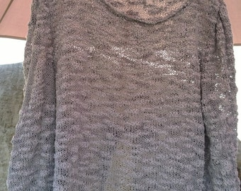 Hand-made jersey grey sweater , size M-L