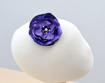 Clip bridal hair - clip-capucine - bridal adornement-hairstyle-child hair wedding-clip hair pink-purple hair clip -.