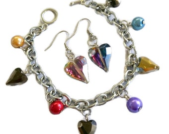 Valentine's Charm Bracelet and Earring Set Jewelry Making Kit: Make your own jewelry to impress your loved ones!