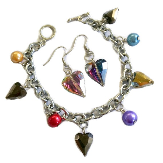 Make Your Own Charm Bracelets: Valentine's Charm Bracelet And Earring Set Jewelry Making